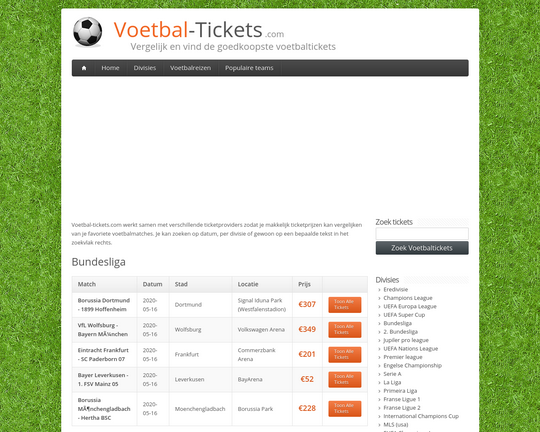 Voetbal Tickets